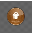 Social network wood application icons vector image vector image