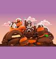 sweet factory chocolate castle 3d cartoon vector image vector image