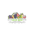 symbol healthy cooking logo and organic food vector image vector image