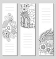 Template design bookmarks isolated on white vector image