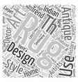 The latest trend Antique Rugs text background vector image vector image