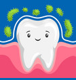 tooth is protected from bacteria vector image