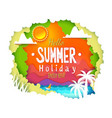 tropic paper cut banner vector image vector image
