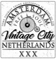 typographic amsterdam city poster design vector image vector image