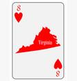 usa playing card 8 hearts vector image