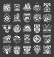 vintage summer surfing emblems vector image