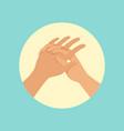 washing hands procedure round vector image vector image