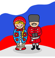 Welcome to Russia people vector image