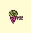 wine guru logo vector image