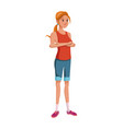 woman cartoon character young girl casual vector image vector image