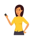 Woman with mobile vector image