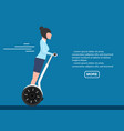 young business woman on segway vector image