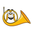 Cartoon of a french horn vector image