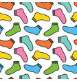 colorful doodle socks seamless pattern background vector image