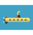 Yellow submarine flat style vector image