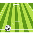 Football ground background vector image