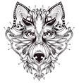 abstract dog head tattoo vector image