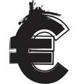 abstract euro symbol vector image vector image