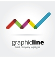 Abstract graph logotype isolated on white vector image vector image