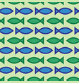 abstract seamless fish pattern vector image