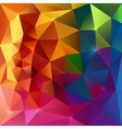 Abstract triangles colorful background vector image vector image
