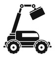 agricultural lift machine icon simple style vector image