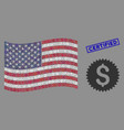 american flag stylized composition financial vector image vector image