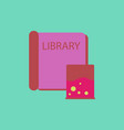 ancient library book vector image vector image