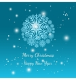 Blue winter snowflake background vector image vector image