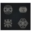 Bundle of four retro emblems for Barber Shop vector image vector image