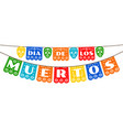 bunting for day dead vector image vector image