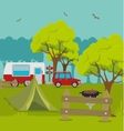 Camping vacation and travel vector image