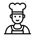chef in a hat icon outline style vector image vector image