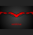 contrast red and black technology background vector image vector image