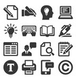 copywriting icons set on white background vector image vector image