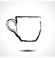 cup icon stylized sketch vector image vector image