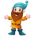 cute dwarf cartoon vector image