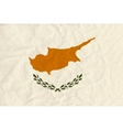cyprus paper flag vector image vector image