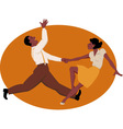 Dancing jitterbug vector image vector image