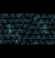 dark blue abstract tech triangles background vector image