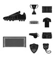 design of soccer and gear symbol vector image vector image