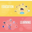 Education infographics concept banners vector image vector image