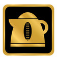 electric kettle button vector image vector image