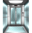 empty glass elevator cabin with transparent walls vector image vector image