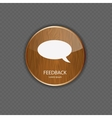 Feedback wood application icons vector image