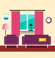 flat hotel room interior design vector image