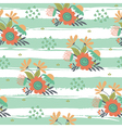 floral pattern with stripes vector image vector image
