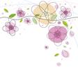 flowers background design vector image