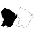 french guiana map vector image vector image