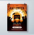 halloween sale flyer vector image vector image